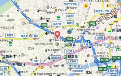 【地図】エスリード福島WEST