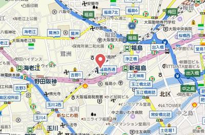 【地図】エクセルニューオオサカ