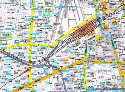 【地図】W.O.B.NISHIUMEDA