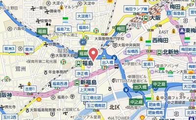 【地図】ヴィラ福島
