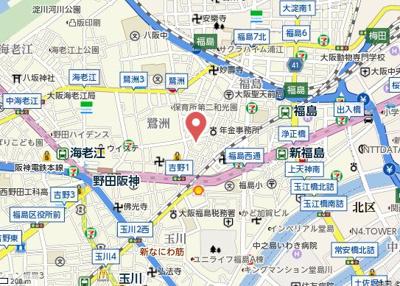 【地図】ウィステリア福島