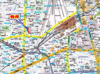 【地図】アレンダール梅田西