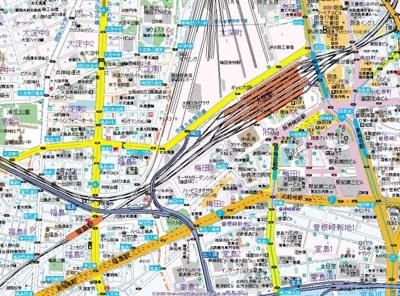 【地図】アルグラッド梅田WEST