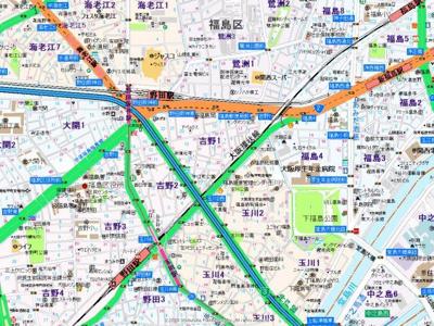 【地図】アドバンス西梅田ラシュレ