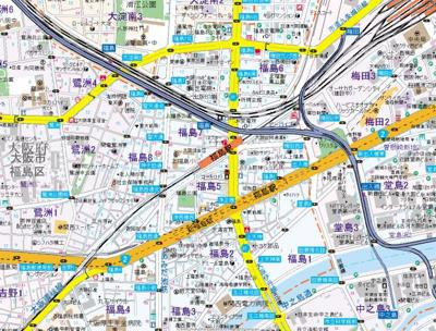 【地図】アクア福島