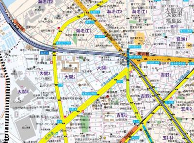【地図】アーデンタワー福島ウエスト