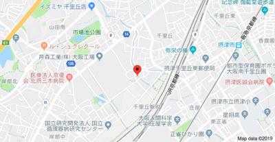 【地図】ブレスト千里丘