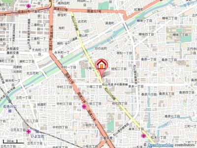 【地図】ヒールコート越智