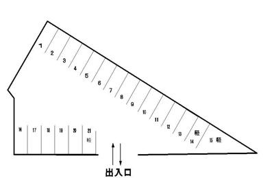 【区画図】後田町たまパーキング