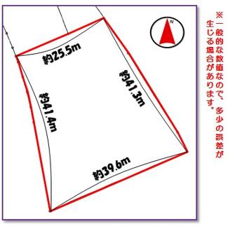 【区画図】読谷村字大湾(400.76坪)