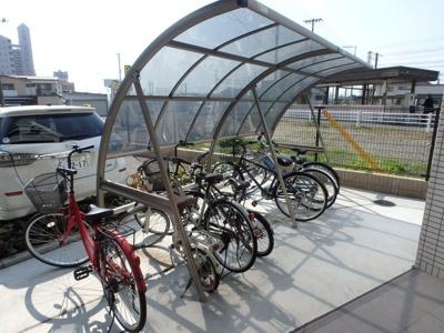 COCO川西町(倉敷市川西町 賃貸マンション)駐輪場