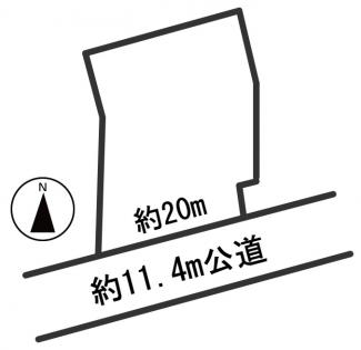 【区画図】54886 各務原市那加日新町土地