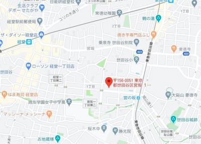 【地図】ファーレ経堂Ⅱ