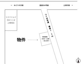 【土地図】つくば市上横場 売地 1048万円 市街化調整区域