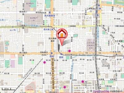 【地図】forestage西院(フォレステージ西院)