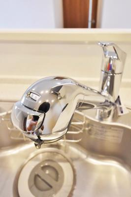 シングルレバー浄水機能搭載、ディスポーザー搭載