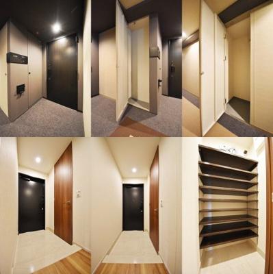 玄関、それぞれの写真。シューズBOX、シューズクローゼット搭載。