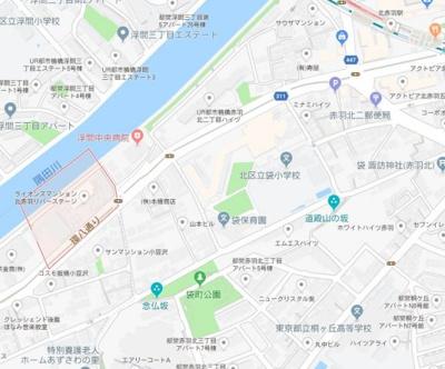 【地図】アゼスト北赤羽