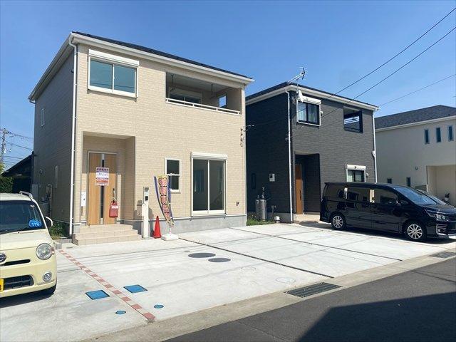 【外観】新築一戸建て「南足柄市塚原」車駐車3台可!