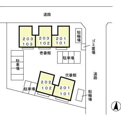 【地図】ヴェルクレール 壱・弐番館