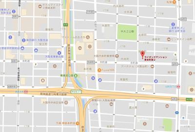 【地図】ライオンズマンション東本町第2