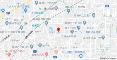 【地図】シャトレ富田