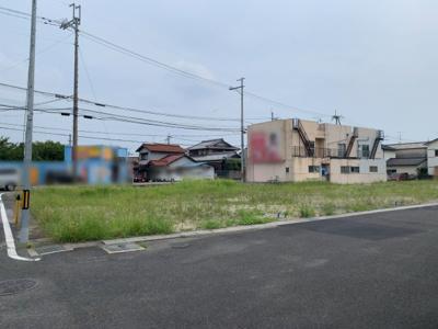【前面道路含む現地写真】大津市唐崎1丁目18 新築戸建