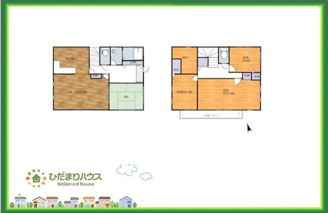 2階には広い納戸付き♪主寝室は10帖ございます!!
