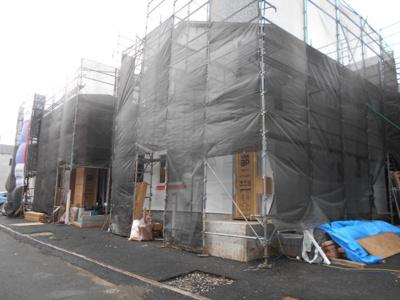 【前面道路含む現地写真】東川島町第2 新築分譲住宅 2号棟