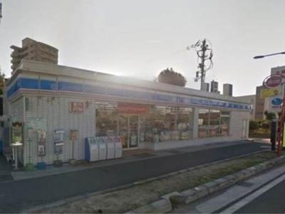 ローソン松山小栗店 118m