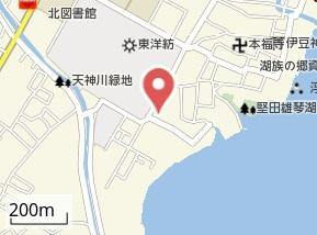 【地図】本堅田1倉庫・事務所