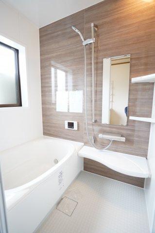 清潔感のある浴室です。清