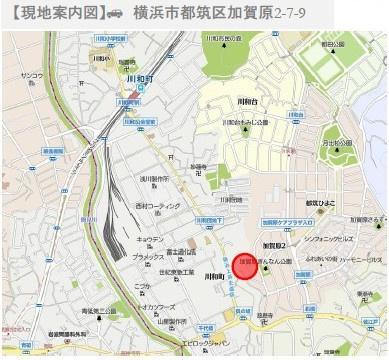 【地図】加賀原二丁目 売地