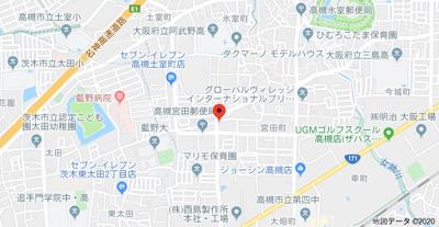 【地図】目方ハイツ (株)Roots