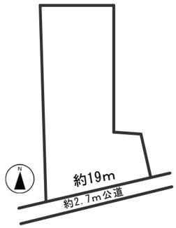 【区画図】55243 羽島市堀津町土地
