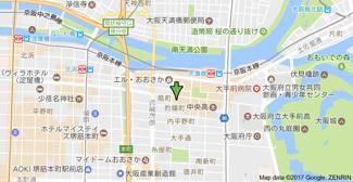 【地図】アーバネックス大阪城WEST