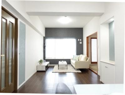 デザインリフォームされた室内はよい感じの雰囲気になっております。リフォームで付加価値をプラスし、ただの『住まい』ではなく『癒しのある空間』に仕上がっております♪
