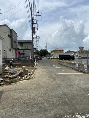 【前面道路含む現地写真】新築一戸建て 松ケ丘1号棟