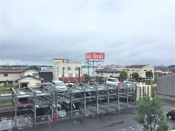 バルコニーから市内の眺望