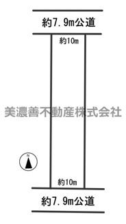 【区画図】55245 岐阜市六条大溝土地