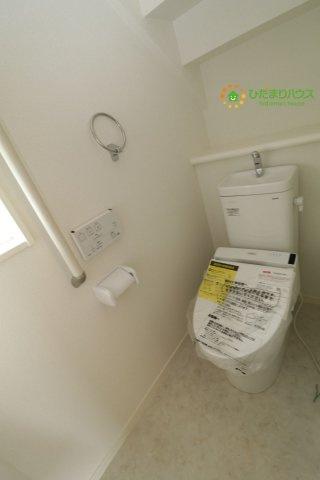 毎日使う場所だからこそ、しっかりとした設備を。ウォッシュレット付きトイレ。