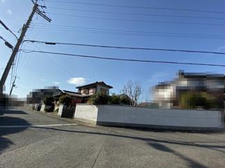 【前面道路含む現地写真】野洲市高木 売土地