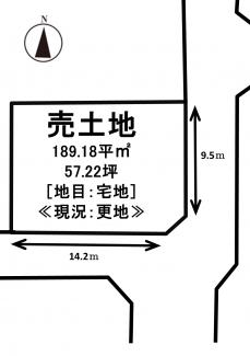 【土地図】飯山町東坂元 売土地