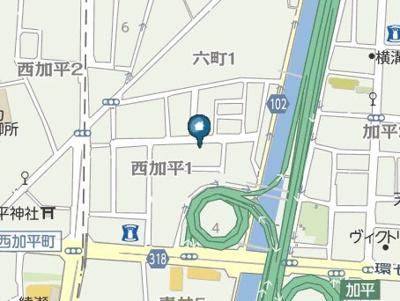 【地図】エクシリア北綾瀬(エクシリアキタアヤセ)