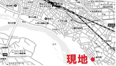 【地図】熊谷市久下分譲地