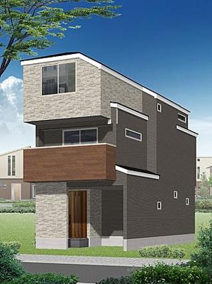 保土ケ谷区桜ヶ丘2丁目の新築戸建てのイメージパースです。
