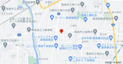【地図】高西町3戸1貸家 (株)Roots