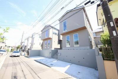 【外観】小田急線「百合ヶ丘」駅 新築一戸建て A棟