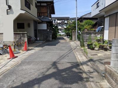 【前面道路含む現地写真】京都市山科区東野中井ノ上町