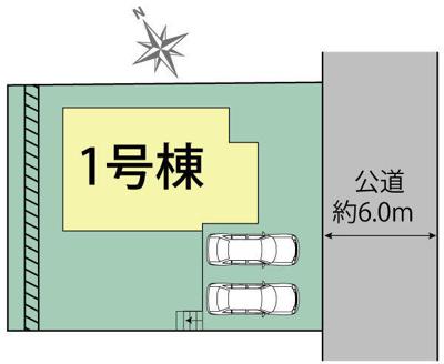 【区画図】神戸市垂水区小束山7丁目 新築戸建